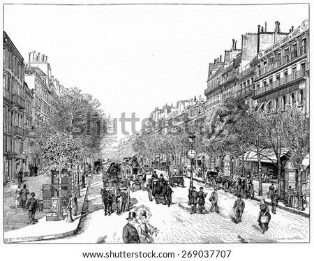 line the main boulevards ...