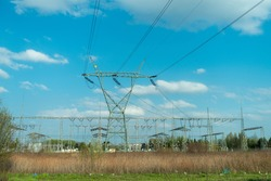line transmitting electricity during the day