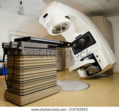 Linear Accelerator at hospital. Linear accelerators are the newest radiation technology available today.