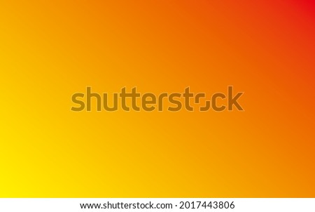 Linear two color blend red to to yellow, mid-point 49, angle option around 130s, red to yellow abstract background Stockfoto ©