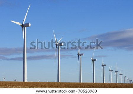 lined mills for production of electric power with cloudy sky