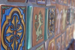 Lined up tiles in Avalon - California