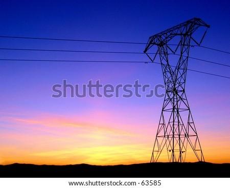Linee elettriche in Chico, CA - stock photo