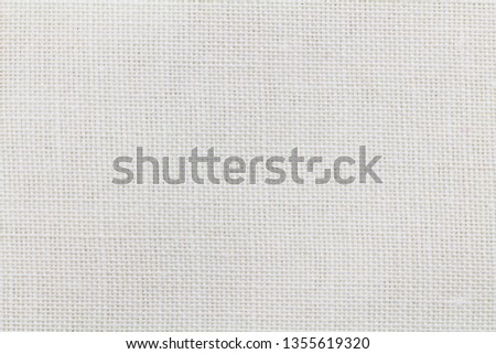 Linen background - Abstract white cloth texure - macro photo