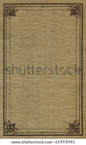 Linen binding canvas with printed vintage pattern