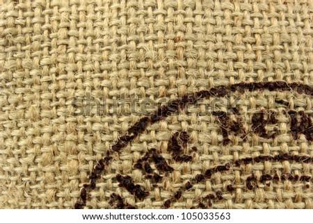 Linen burlap texture - stock photo