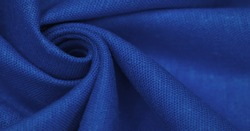 Linen fabric in blue. Linen fabric is considered luxurious because processing it from the flax plant is laborious. Beautiful, durable and timelessly attractive.