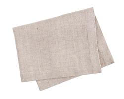 Linen napkin isolated on white background
