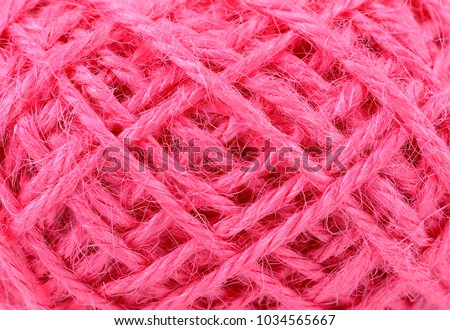 linen rope texture. thread in clew close up  #1034565667