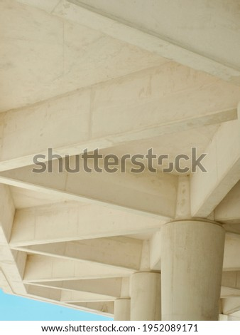 Lines of concrete structure. Minimal simplistic rows and curves. Zaragoza, Aragon, Spain Photo stock ©