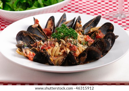 Linguine With Mussels And Fresh Herbs Recipes — Dishmaps