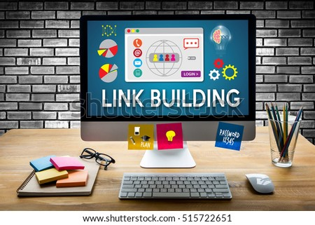 LINK BUILDING Connect Link Communication Contact Network #515722651