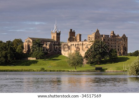 Linlithgow Palace, West Lothian, Scotland, beautifully situated by Linlithgow Peel, is most celebrated today as the birthplace of Mary, Queen of Scots.