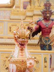 Lion Angel from Himmapan Paradise in The Royal Crematorium of King Bhumibol Adulyadej King Rama 9