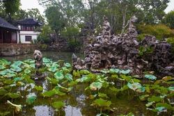 Lion Forest Park scenery. Taken on the Suzhou, Jiangsu, China.