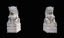 Lion marble face, Chinese Lion, stone carving sculpture, the symbol of Power, by Chinese. Stone Lion sculpture. Sculpture of Chinese lion, Antique stone carving doll.