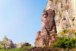Lion of Belfort historical monument in France