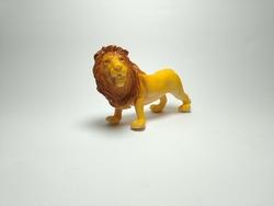 Lion Plastic Toy - Miniature Plastic Toy Animals on white background