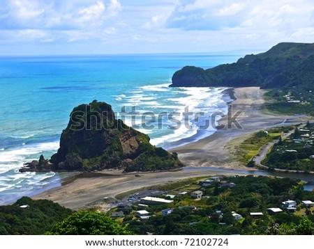 Lion Rock Piha Beach New
