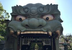Lion shaped hall,ogre shrine in Japan