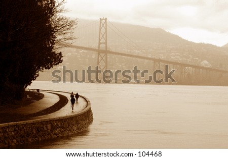 Lions Gate Bridge Sepia -