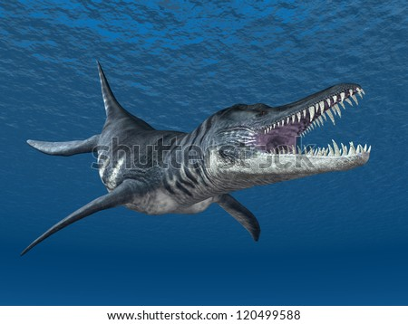 Liopleurodon Computer generated 3D illustration
