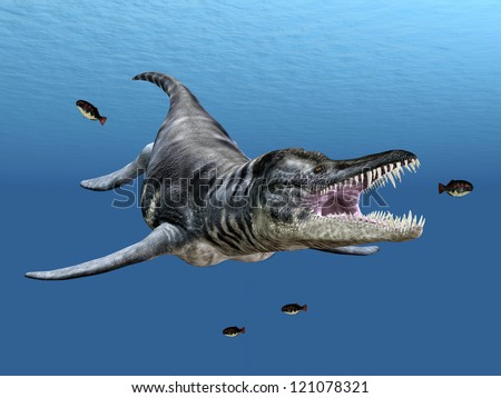 Liopleurodon While Hunting Computer generated 3D illustration