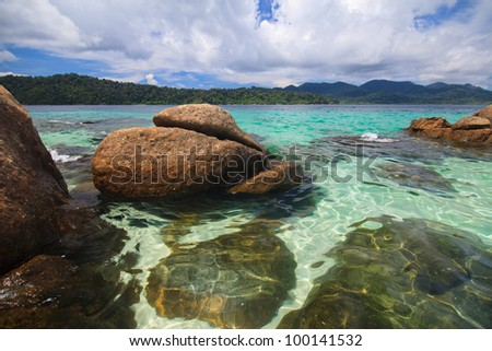 Lipe island in Thailand - stock photo