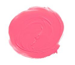 Lipstick circle shape isolated on white background