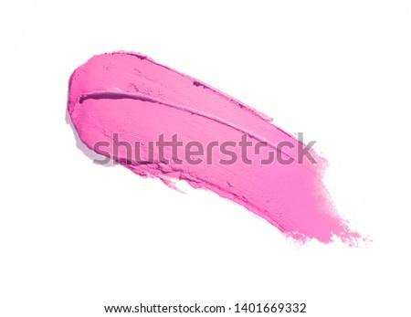 Lipstick pink white isolated background ストックフォト ©