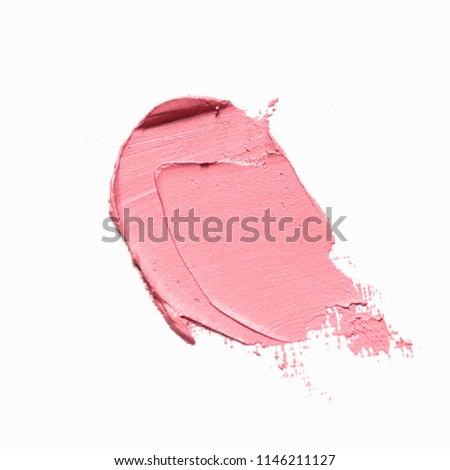 Lipstick stroke isolated on white background