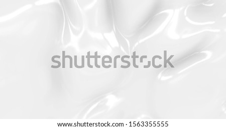 Liquid abstract white background. Smooth glossy texture 3D rendering l