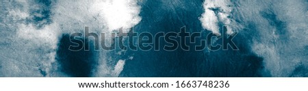 Liquid Acryl. White Tye. Colorless Watercolour Texture. Indigo Color Background Paint. Dark Dirty Art Painting. Ivory Tye Dye Background.