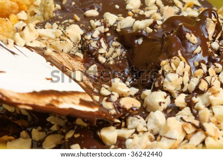 liquid chocolate with nuts iii #36242440