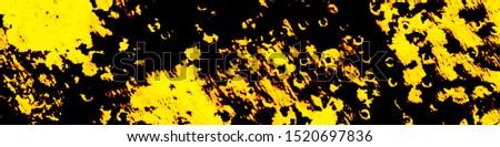 Liquid Inks. Watercolor Wash Background. Tie Paint. Shibori Organic Backdrop. Dirty Art Watercolour. Abstract Textile Ornament. Black, Gold, Orange Liquid Inks.
