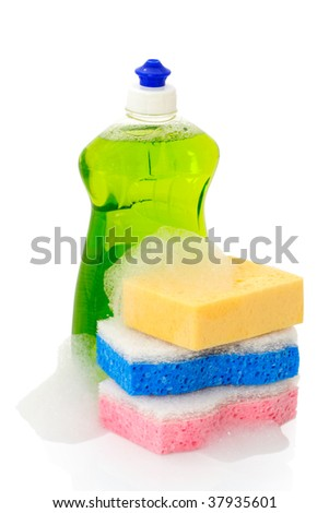 Liquid of washing and sponges