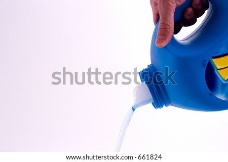 liquid soap pouring out