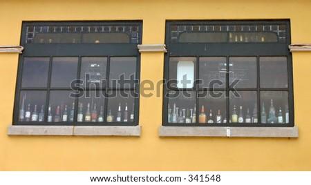 liquor in the windows