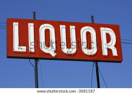 Liquor Sign - stock photo