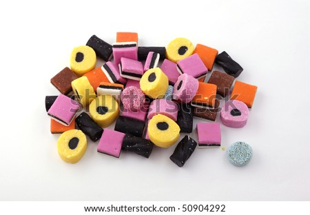 Liquorice Allsorts, eated by all the family.