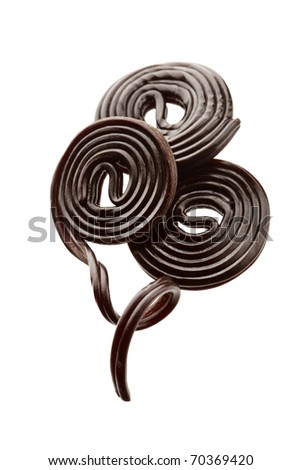 liquorice candy - stock photo