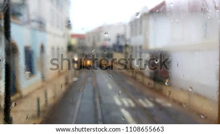 Lisboa Trams Rainy Day #1108655663