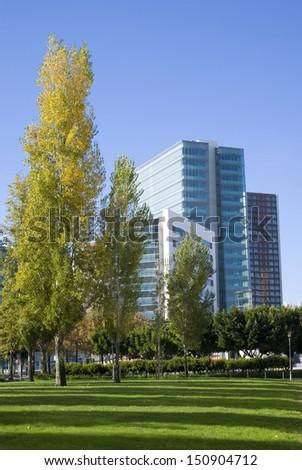 LISBON � NOVEMBER 28: View of the exterior of a modern office building in Lisbon office park an November 28, 2010.