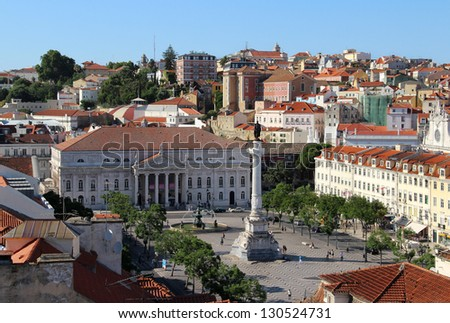 Lisbon panorama, Portugal �¢?? buildings, roofs, churches