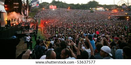 LISBON, PORTUGAL - MAY 21: Singer Ivete Sangalo performs onstage at Rock in Rio - Lisboa May 21, 2010 in Lisbon, Portugal