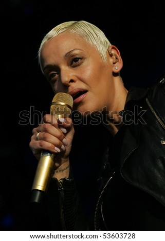 LISBON, PORTUGAL - MAY 21: Singer Mariza performs onstage at Rock in Rio - Lisboa May 21, 2010 in Lisbon, Portugal - stock photo
