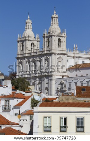 Lisbon - View of the old town (Vicente Monastery)