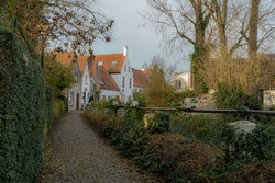 Lissewege a town between Bruges and Knokke.  Idyllic picture of a town.  Beautifull authentic small town with an idyllic atmosphere great for bikers and walkers toerism.  Best of belgium with colours.