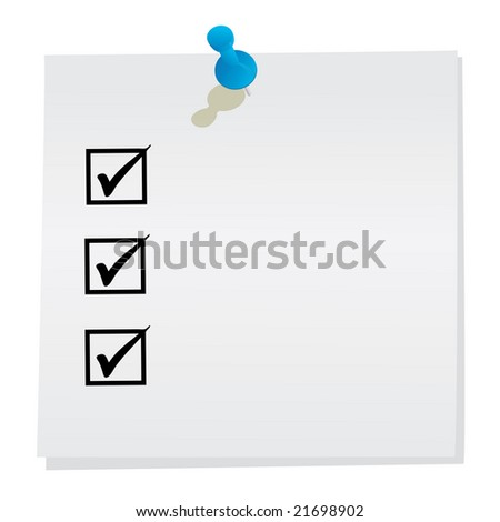 List 3d rendered image - stock photo