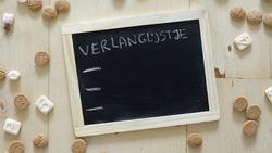 List of presents for Santa claus written in Dutch